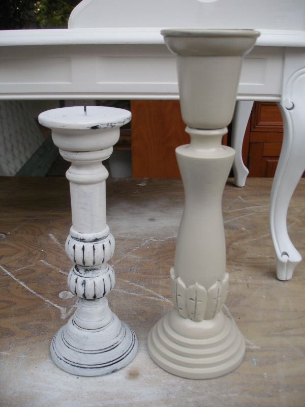 Candle Stick Makeover - Paint After
