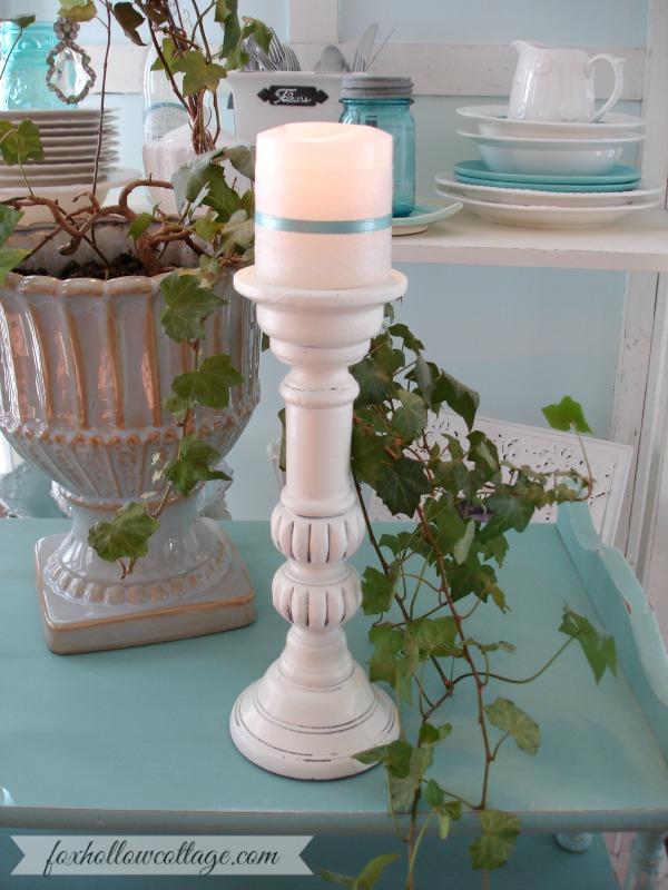 Shabby Cottage Farmhouse Candle Stick Home Decor