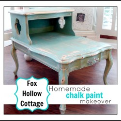 DIY Aqua Chalk Paint Furniture Makeover
