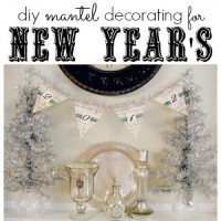 happy new year mantel and banner diy