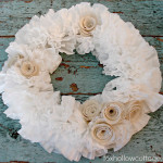 My First Crack at a Coffee Filter Wreath