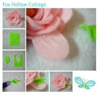pink petal flower tutorial photos