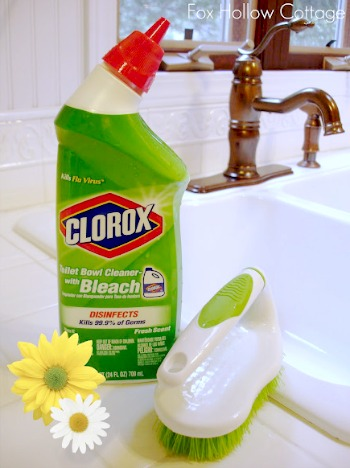 white grout cleaning tip idea clorox toilet bowl cleaner