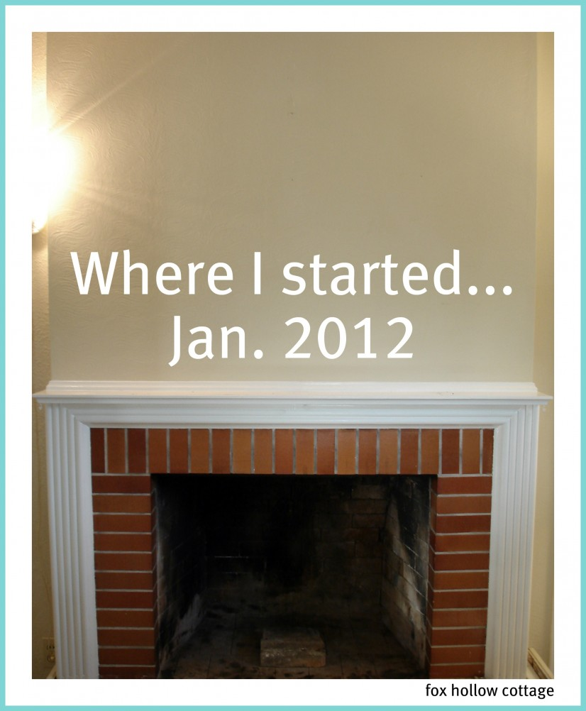 fireplace current before tan wall
