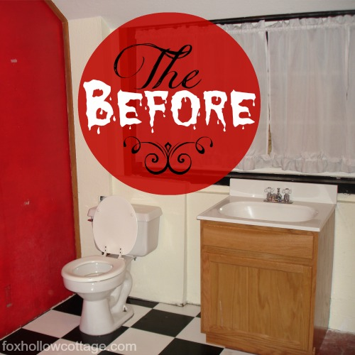 the before bathroom makeover renovation