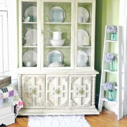 Shabby Farmhouse China Cabinet Makeover