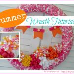 Hot Pink Summer Pool Noodle Wreath