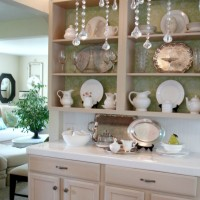 Open Kitchen Cabinets Cottage Chic Shabby White DIY Project