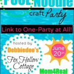 Pool Noodle Craft Party Announcement