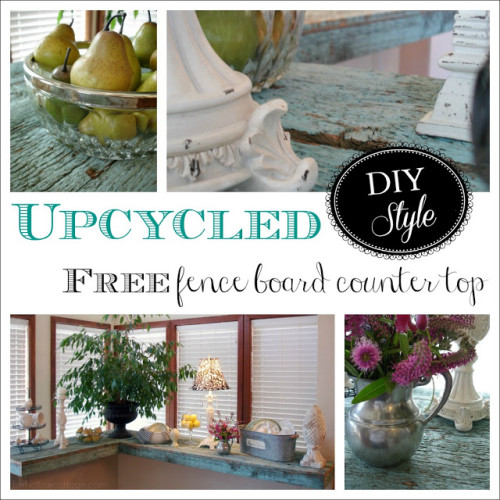 Fence Board Upcycle Repurpose Wood Counter Tops Collage