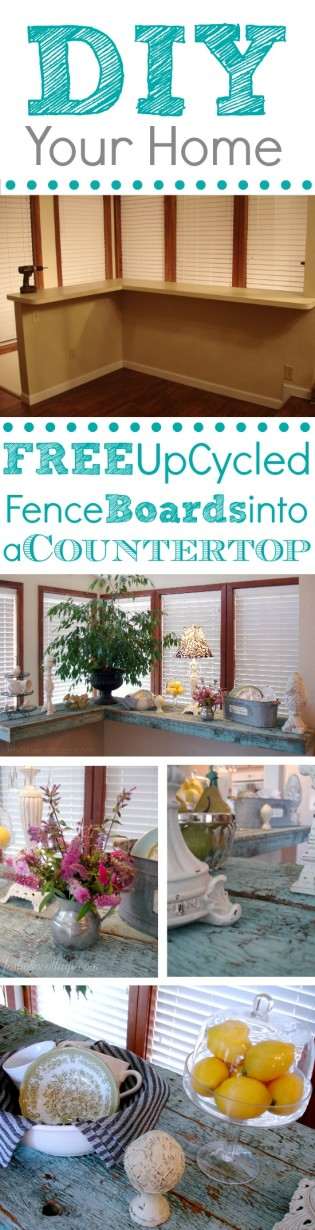 Free Fence Board Countertop DIY Bar Project