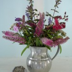 Wildflowers in Purple and Pewter