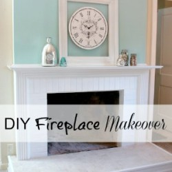 DIY fireplace makeover foxhollowcottage.com fi