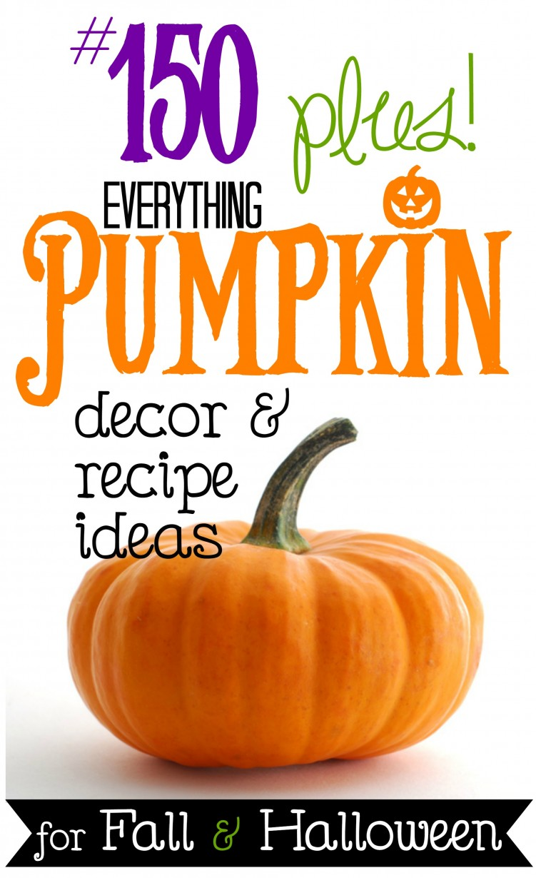 Over 150 ideas for Halloween and fall pumpkin decorating and recipes at foxhollowcottage.com