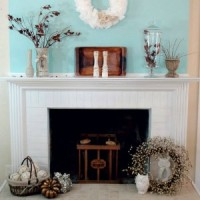 Fall Mantel Aqua Natural Elements