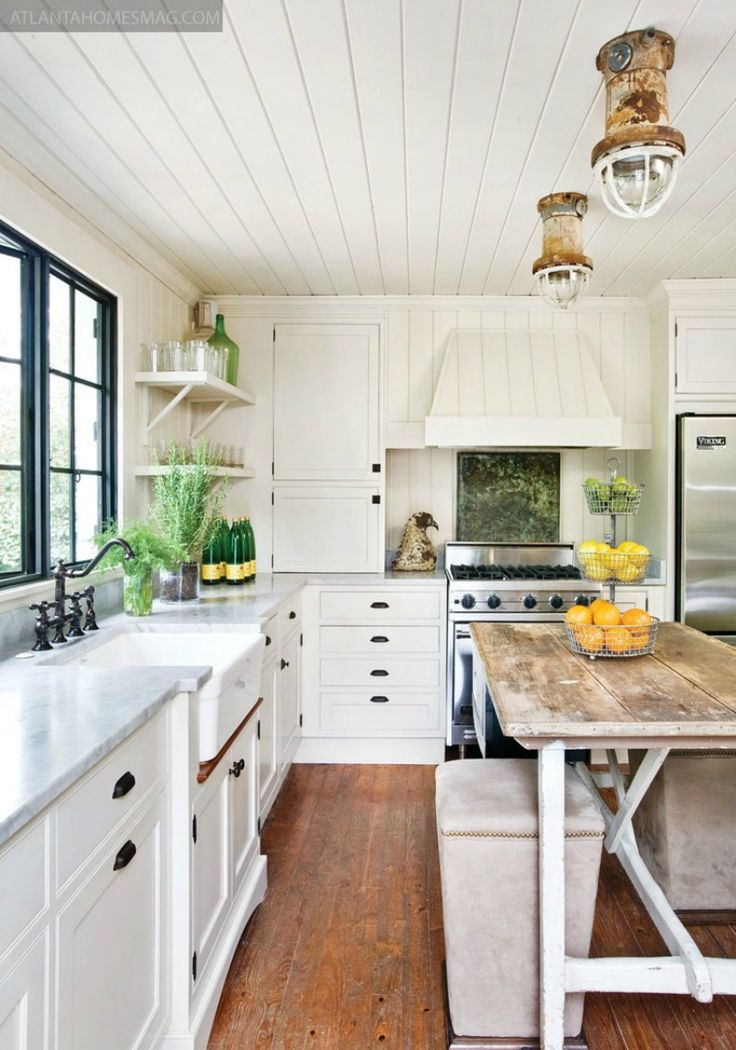 Cottage farmhouse kitchens inspiring in white fox - Farmhouse style kitchen cabinets ...
