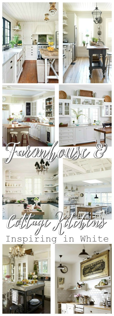 Farmhouse Cottage Kitchens at foxhollowcottage.com - Inspiring in White!