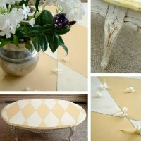 Harlequin Paint Tutorial Masion Blanche Furniture Makeover