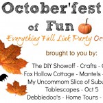 October'fest of Fun – Fall and Halloween Mantel Party