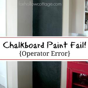 A Chalkboard Paint Project