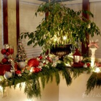 Natural Christmas Cedar Bough Holiday Decor