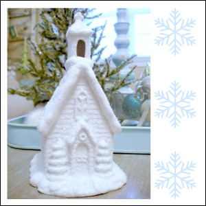 White Glitter Chirstmas Church Craft Makeover fi 300