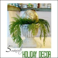 5 minute Christmas holiday decor mercury glass cedar bough run decorating