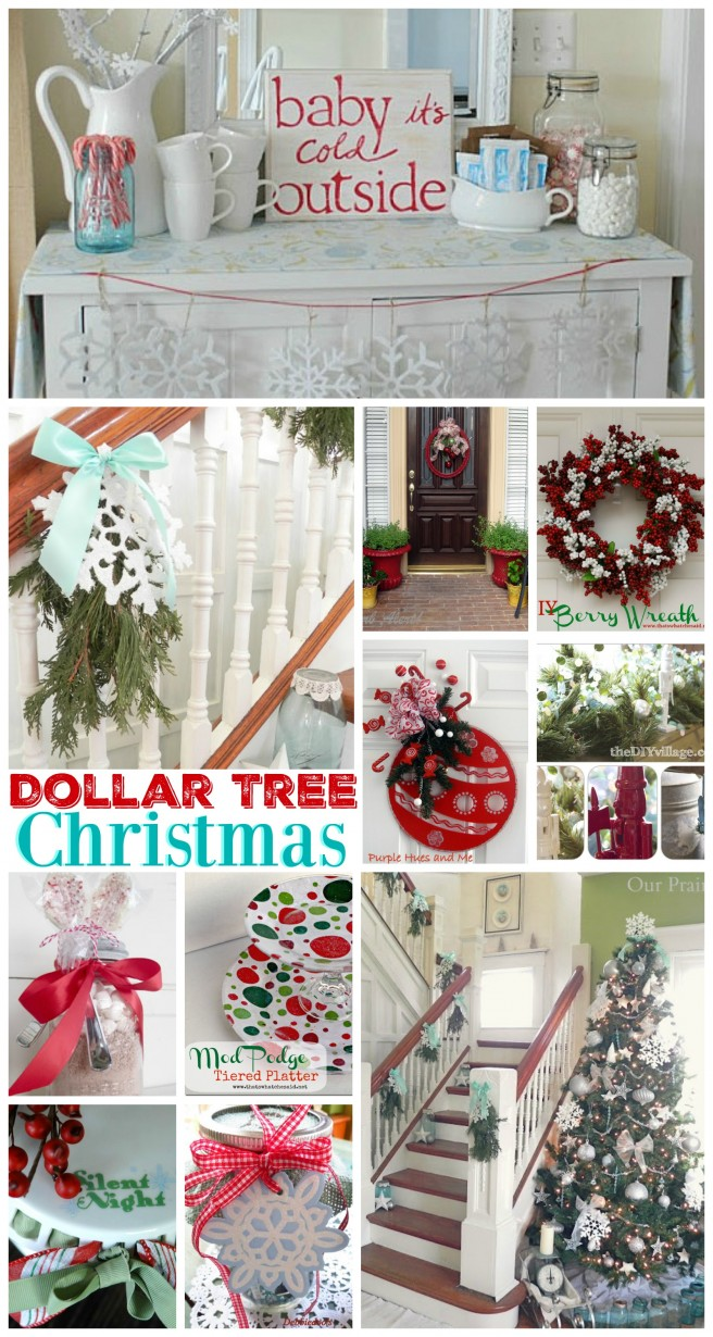Dollar Tree Budget Christmas Decor and Home Decorating Ideas - Annual blog link party features and more www.foxhollowcottage.com