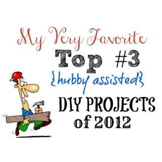 Top #3 {hubby assisted} DIY Projects of 2012