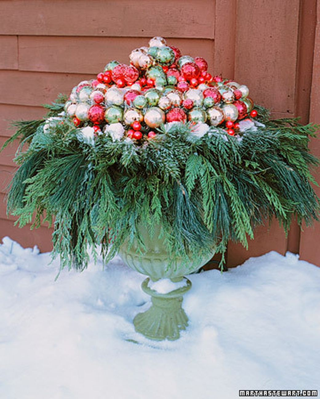 Holiday Decor Gift Ideas Pottery Barn Edition All My: Decorating With Urns {Christmas Edition}