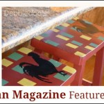 Country Woman Magazine {diy stenciled craft project features}