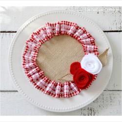 A Valentine's Craft {in burlap and ruffles}