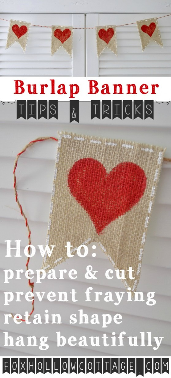burlap banner tips and trick - foxhollowcottage