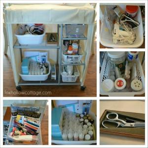 Organized crafts storage trolley