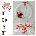 Make a $5 Valentine's Day Wreath {w/burlap and yarn}