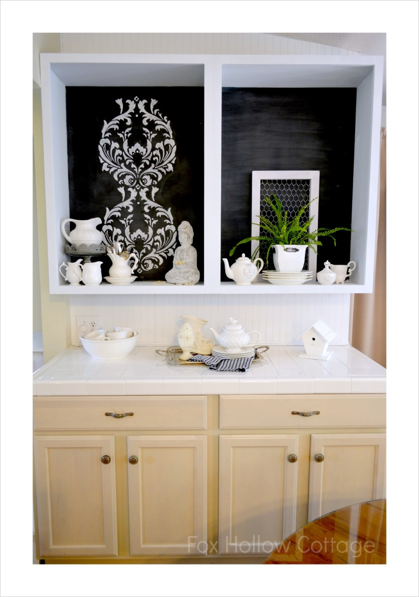 Maison Blanche La Craie Cutting Edge Stencil Kitchen Cabinet Makeover