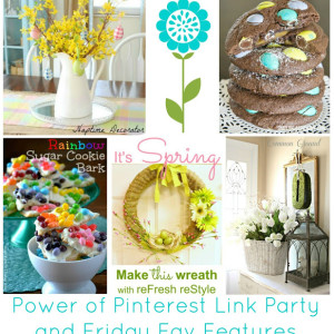 3-15 Power of Pinterest link party - featured Spring Easter DIY Craft Home Decor Ideas