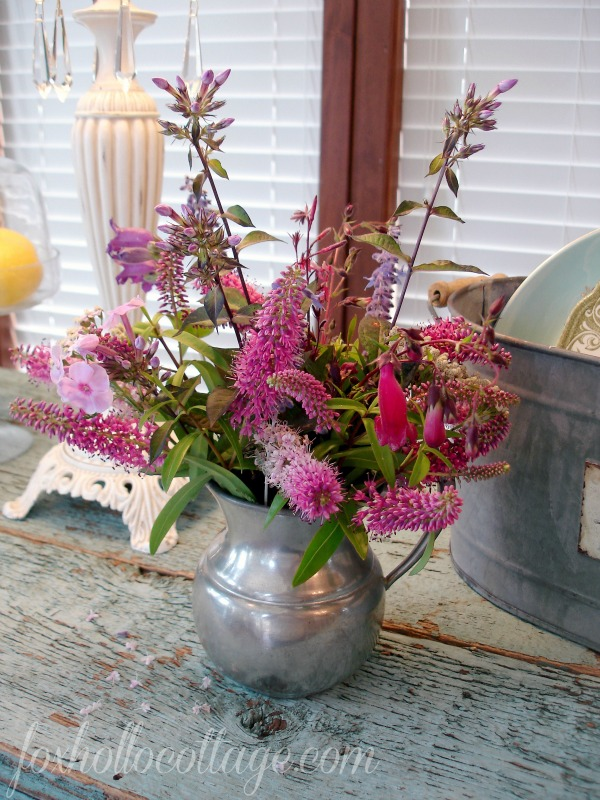 Fox Hollow Cottage Home Tour - repurposed fence board counter top