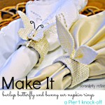 Burlap Easter Bunny Ear and Butterfly Napkin Ring Tutorial