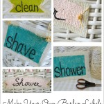Painted Burlap Labels {a diy tag tutorial}