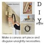 DIY Monogrammed Art {doorbell in disguise}