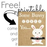 Free Printable {no-mess burlap Easter bunny}