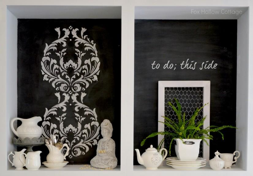 Open Kitchen Cabinets La Craie Wrought Iron Paint Chalk Stencil