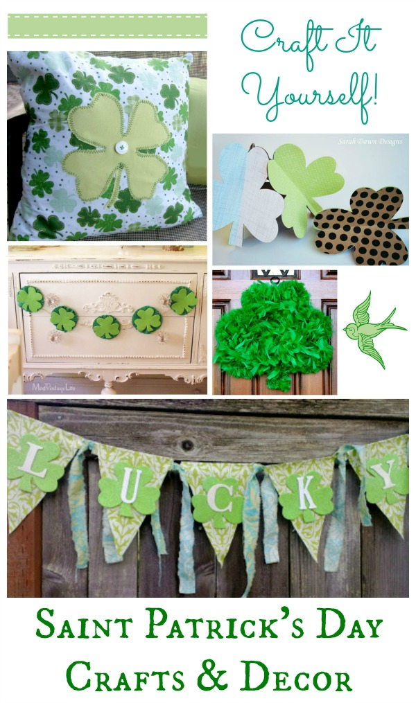 Saint Patrick's Day craft and decor diy ideas and inspiration 600X blog version