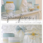 Spring at the Cottage {my Nicole Miller mantel}