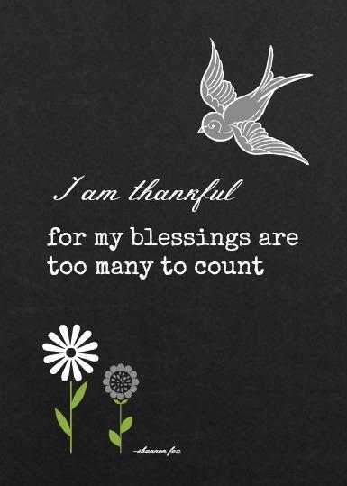 5 x 7 Blessings wht grey