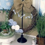 DIY Burlap Blues Coastal Beach Wreath