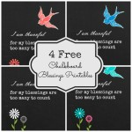 Four Free Chalkboard Printables {thankful blessings}