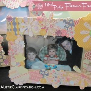 Mother's Day Flower Frame Gift {a mod podge craft}