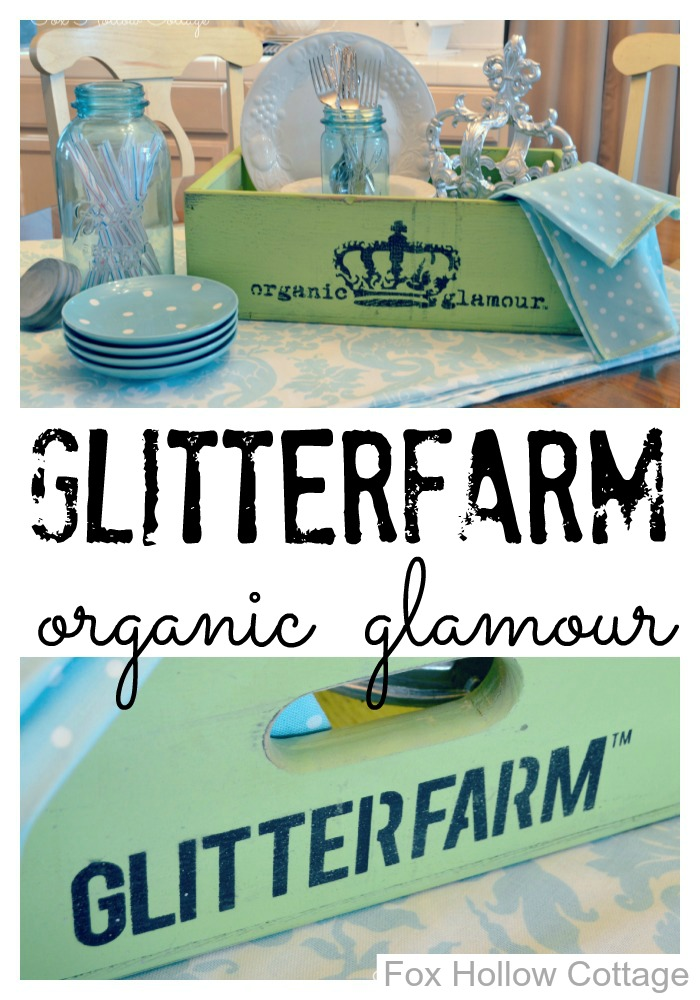 Glitterfarm Organic Glamour Storage Crate Collage
